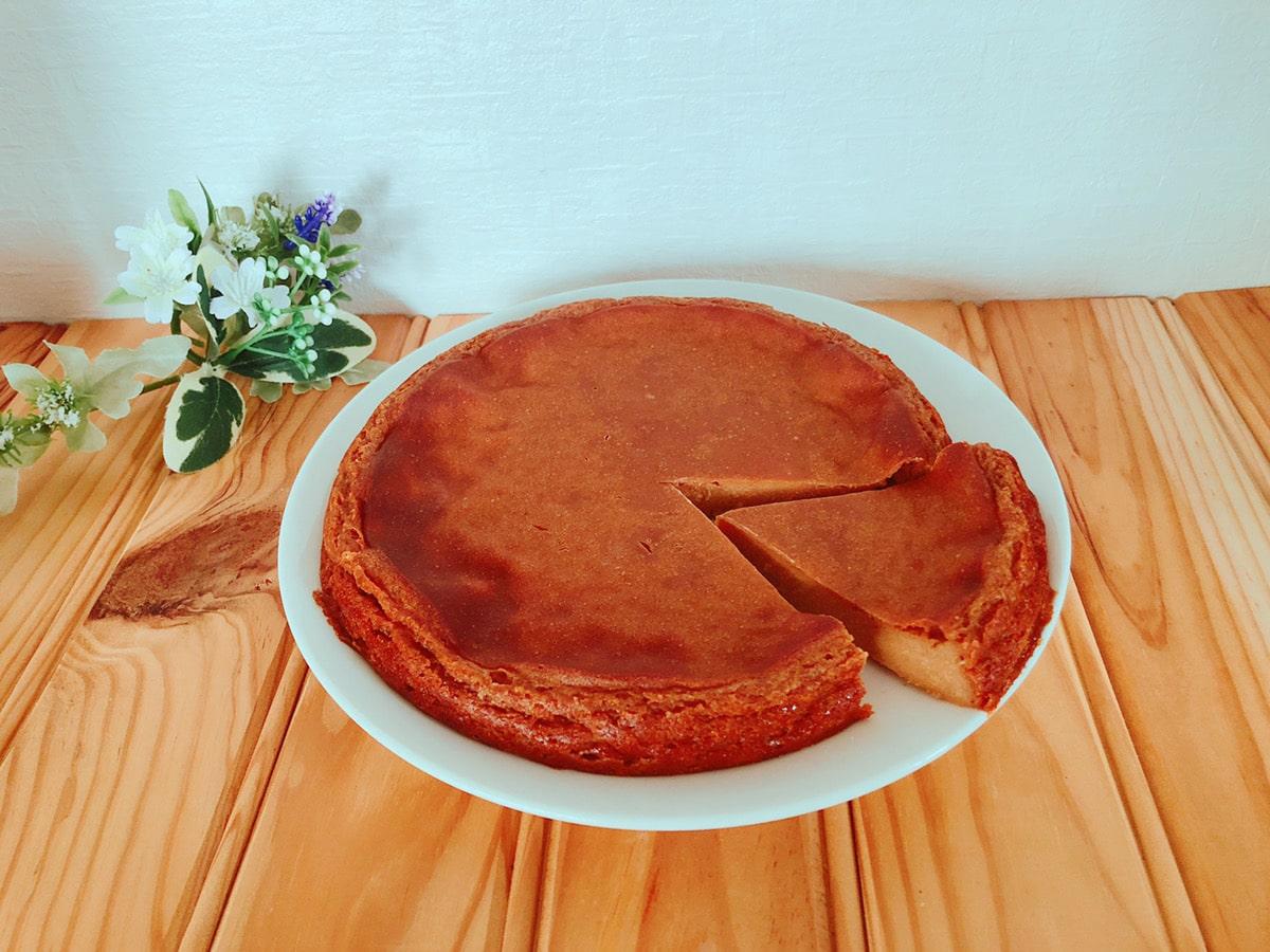 ノンオイルヨーグルトきな粉ケーキ♪卵なし小麦粉なし!簡単米粉幼児食レシピ