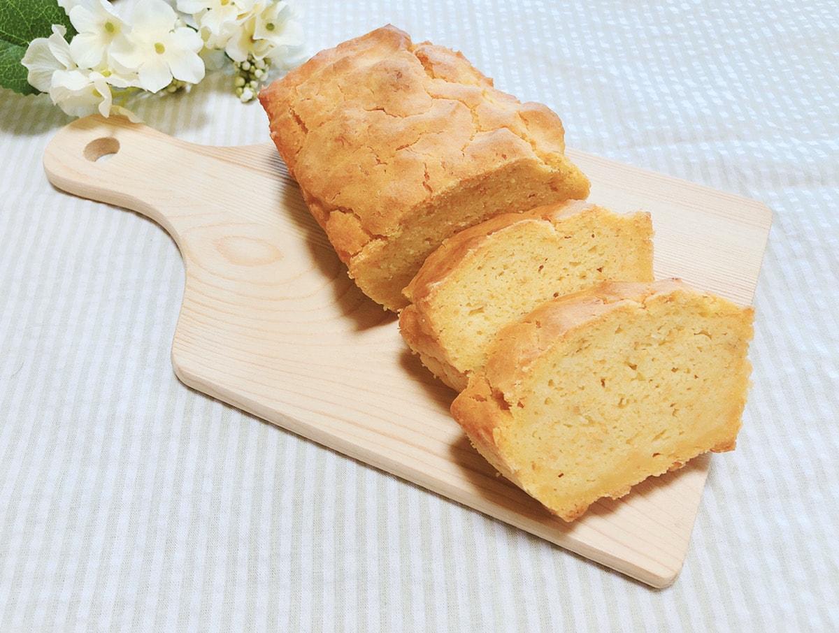 人参米粉パウンドケーキレシピ♪乳製品・小麦粉・卵なし!幼児食レシピ