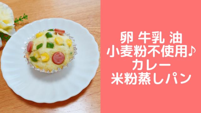 カレー米粉蒸しパンレシピ♪乳・小麦粉・油・卵なし!簡単幼児食レシピ
