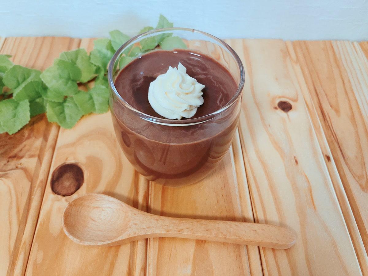 簡単ココア豆乳米粉プリン!卵なし牛乳なし生クリームなし!米粉レシピ