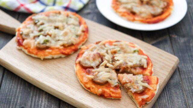米粉ピザ イーストなし 豆腐 ベーキングパウダー チーズなし 子ども 幼児食