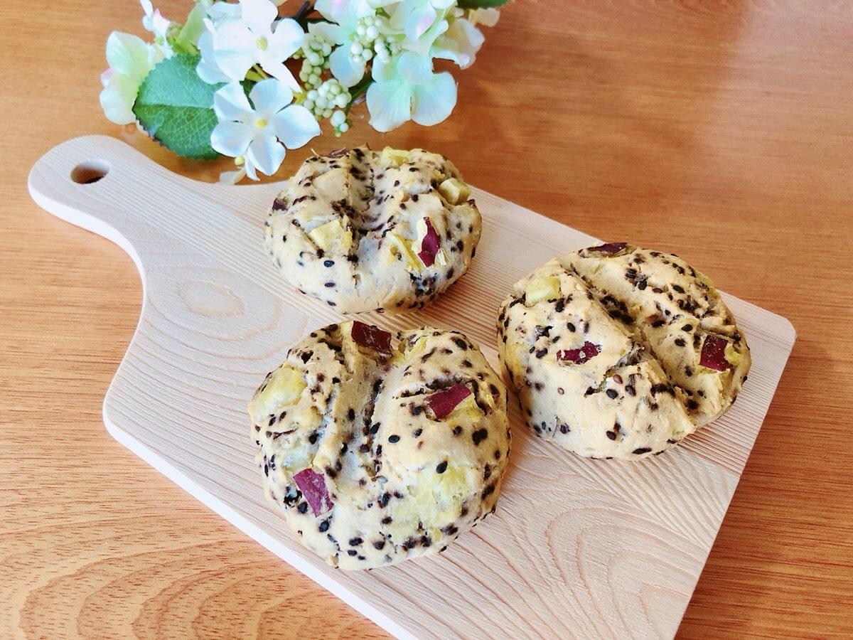 ノンオイルさつまいもおからパンレシピ 小麦粉・油不使用 糖質オフダイエットパン