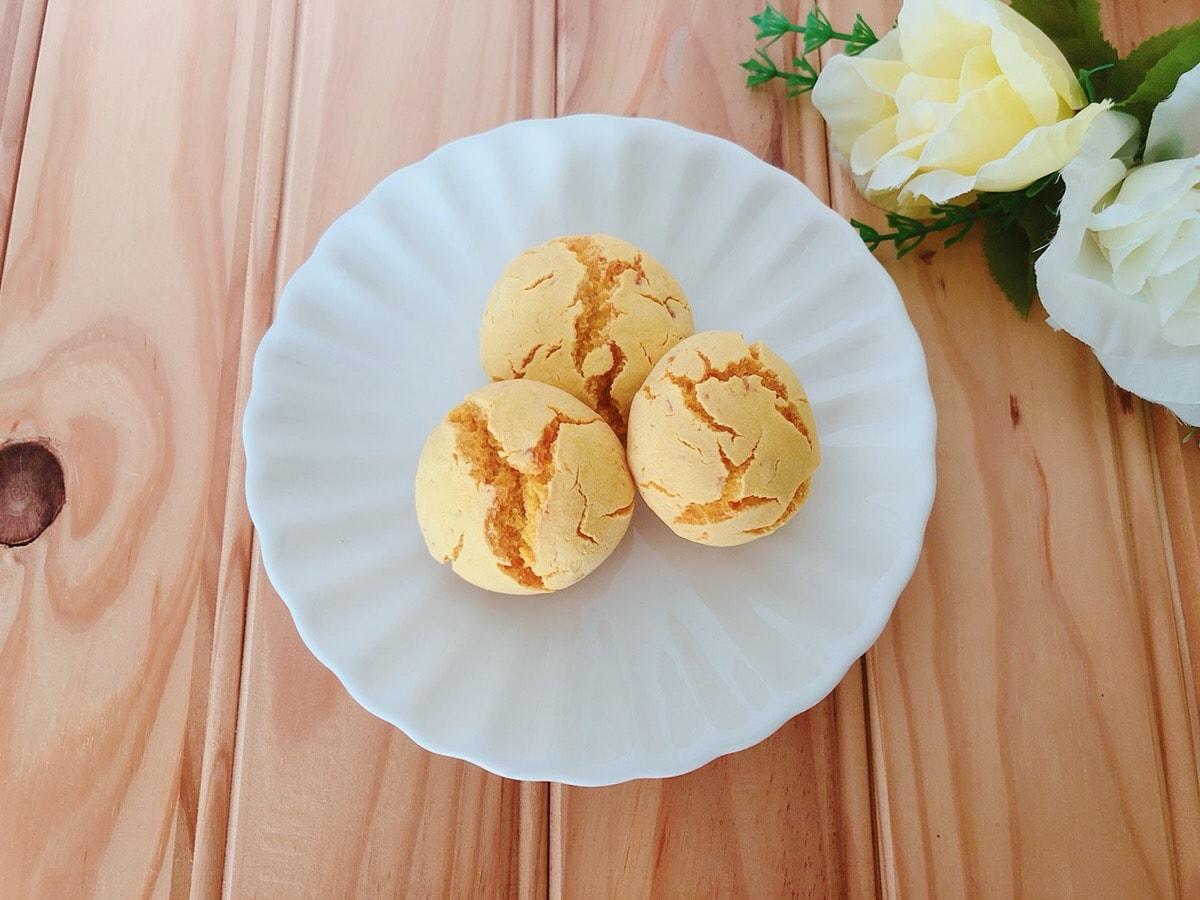米粉かぼちゃパン♪油・小麦粉・乳製品・大豆製品・卵不使用!幼児食レシピ