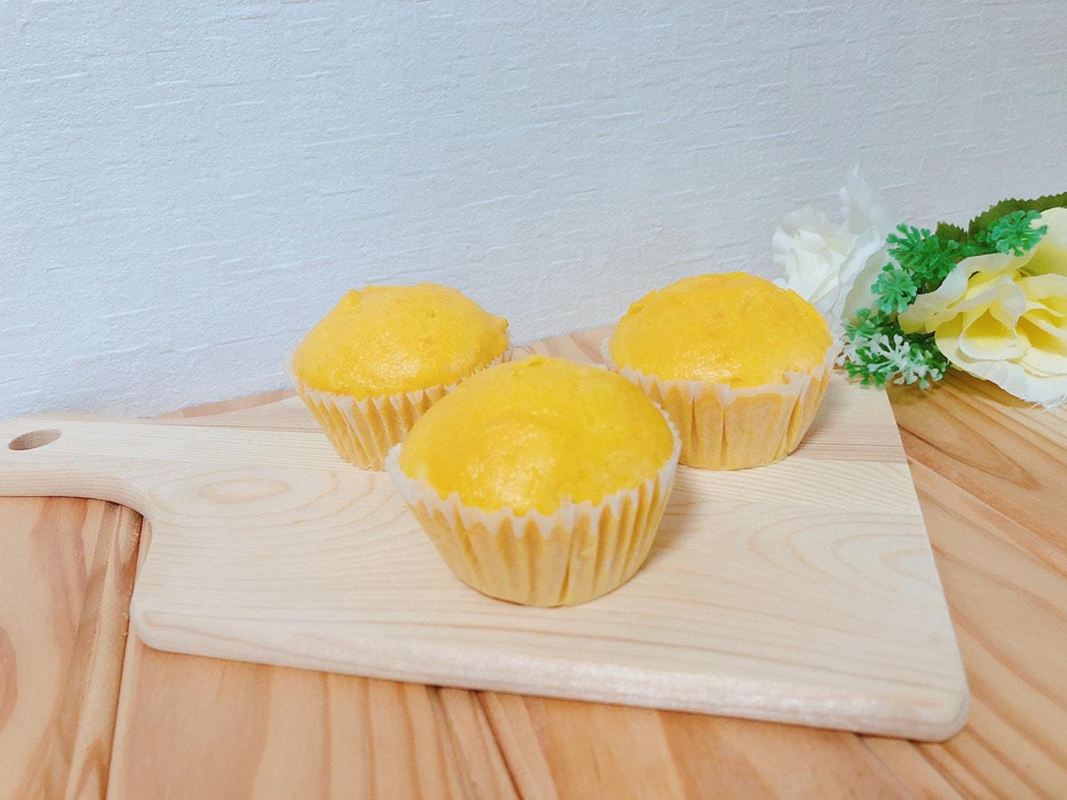 かぼちゃ米粉蒸しパン♪油・小麦・牛乳・卵なし!フライパンで簡単 幼児食レシピ