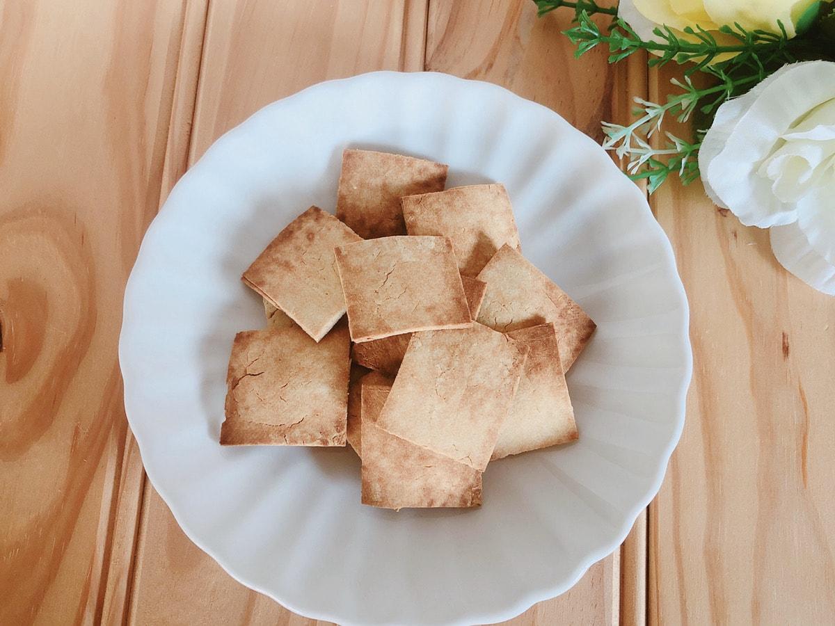 材料3つ堅焼きおからクッキー♪おからパウダーと豆腐で簡単!おからレシピ