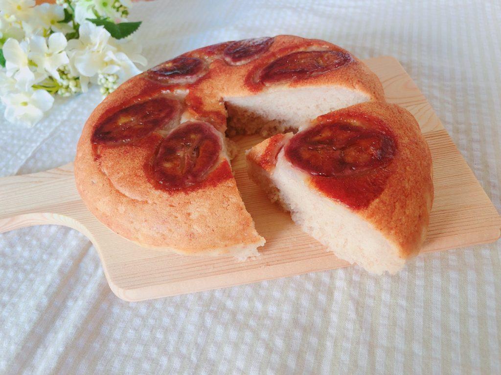 炊飯器 バナナケーキ レシピ♪砂糖・油・乳・小麦粉・卵なし!米粉 幼児食 レシピ