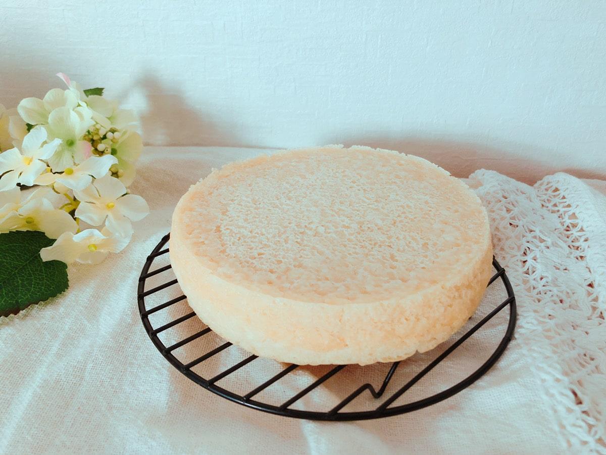 ノンオイル豆腐米粉スポンジケーキ♪油なし小麦粉なし牛乳なしバターなし卵なし!米粉レシピ