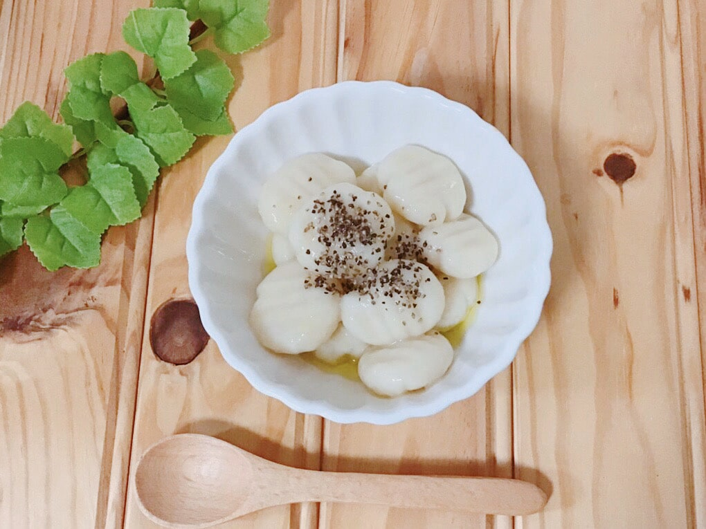 おから ニョッキ レシピ,おからパウダー ニョッキ,小麦粉なし ニョッキ,簡単 ニョッキ