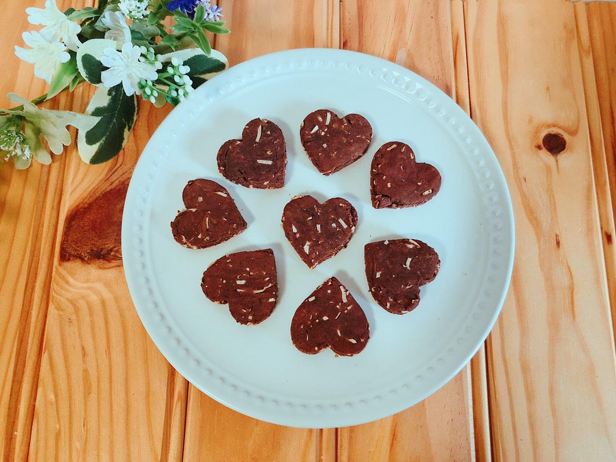 ノンオイルココア大豆粉クッキー♪卵なし小麦粉なし乳製品なし簡単大豆粉レシピ