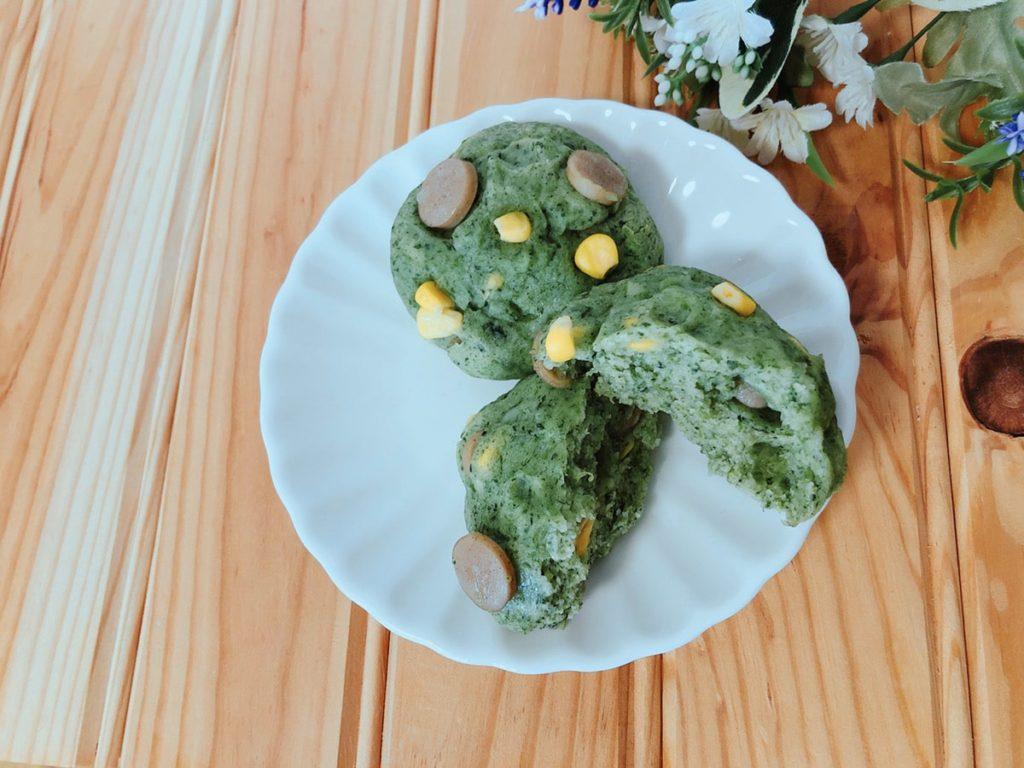 野菜嫌い レシピ 簡単 ほうれん草パン 野菜パン 米粉パン