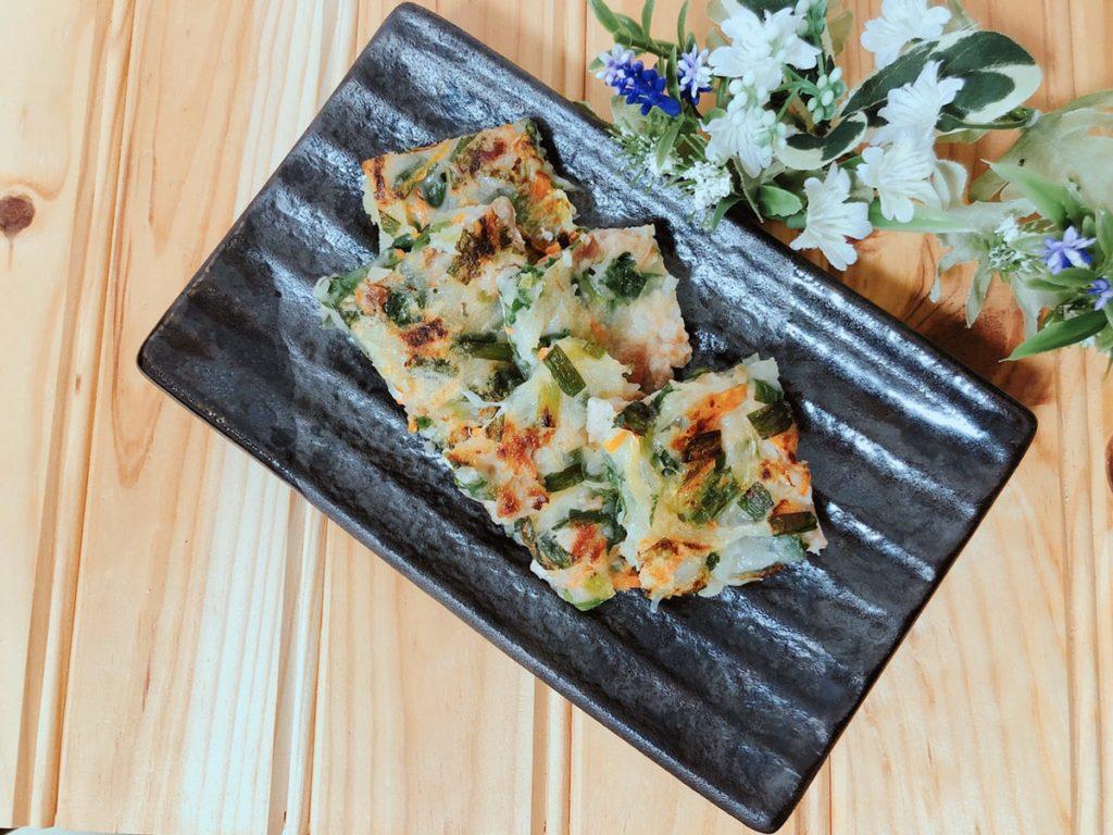 米粉チヂミ 簡単チヂミレシピ 和風チヂミ 卵なし 野菜たっぷり 簡単米粉レシピ