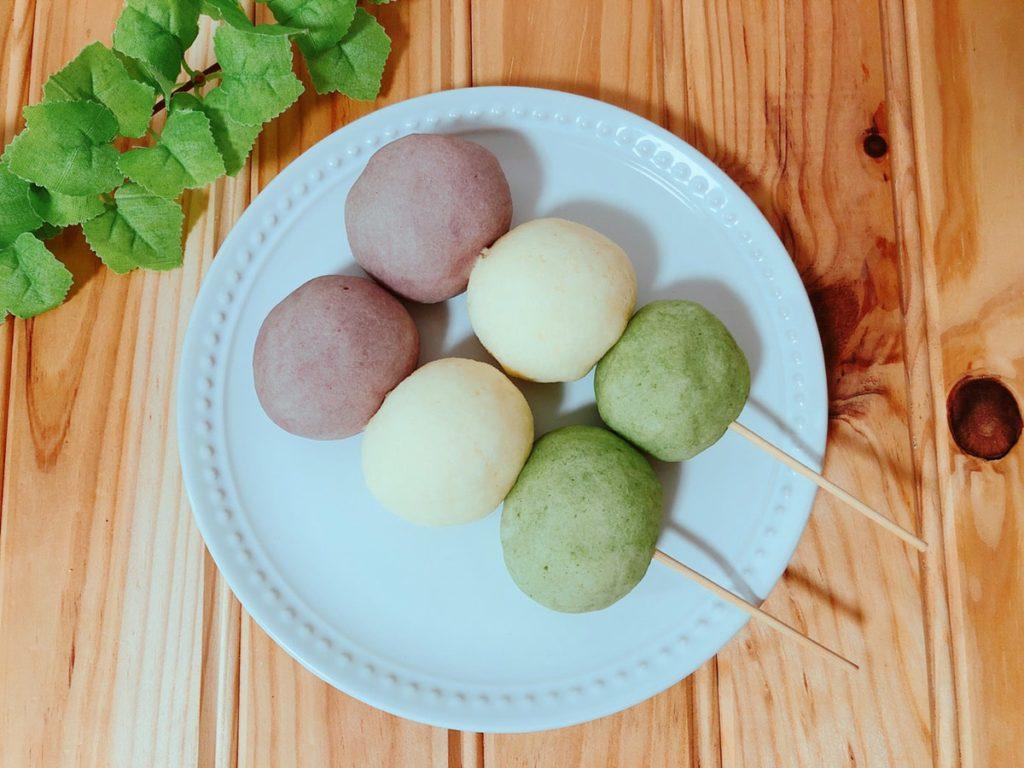 三色団子パンレシピ ひな祭りレシピ ひな祭りデザート 簡単 幼児食 子ども 米粉