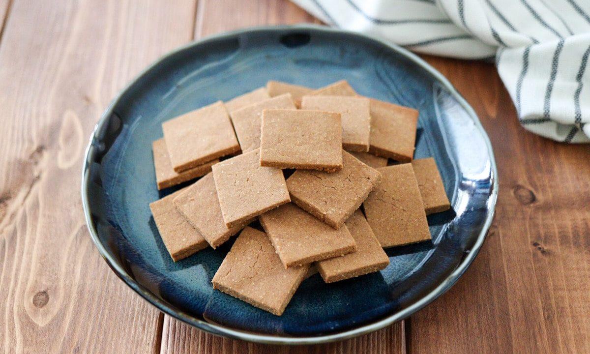 きな粉クッキー あんこクッキー 和風クッキー 簡単 卵なし バターなし 小麦粉なし