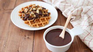 チョコソース チョコなし 子供 簡単 レシピ ココアパウダー