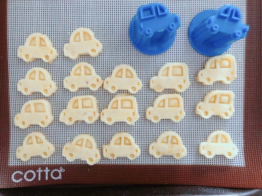 トミカ スタンプ クッキー型 車 クッキー レシピ 野菜抜き