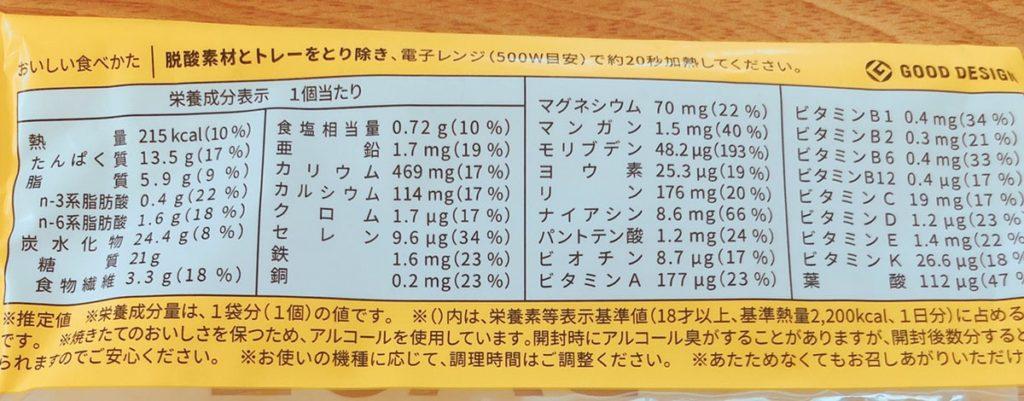 ベースブレッド 栄養価 栄養成分表示 パン ベースフード