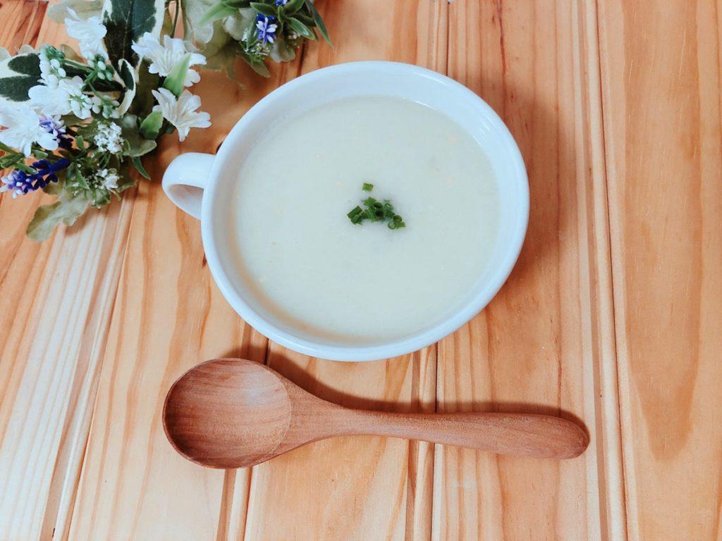 豆乳味噌じゃがいもポタージュスープ レシピ 新じゃがいも 和風 バターなし ノンオイル