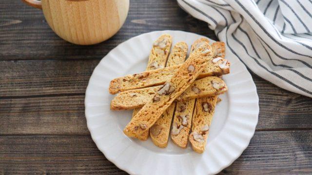 大豆粉 ビスコッティ オーブンなし 電子レンジ トースター 簡単 卵なし 油なし 簡単 レシピ 小麦粉なし