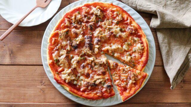 米粉ピザ 豆腐 野菜ピザ 子供 レシピ ノンオイル