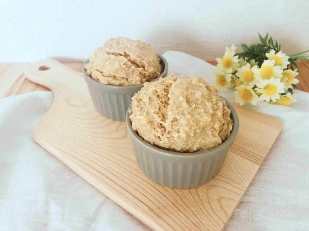 オートミール マフィンケーキ 豆腐 ノンオイル 卵なし 小麦粉なし レシピ 簡単
