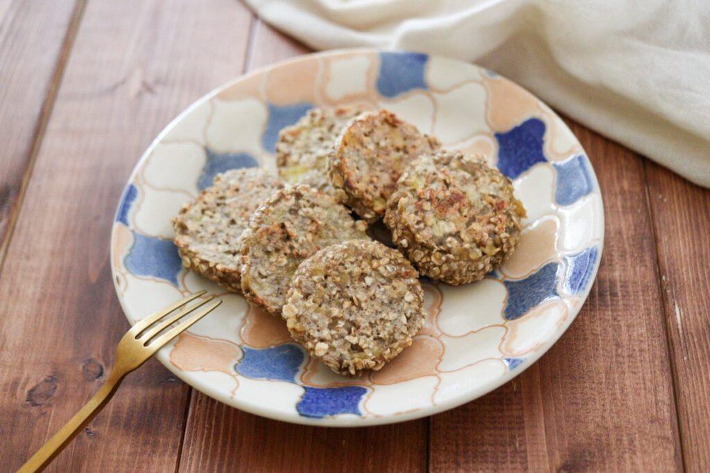 オートミール パンケーキ バナナ 卵なし 小麦粉なし 砂糖なし 油なし 幼児食 離乳食 ダイエット レシピ