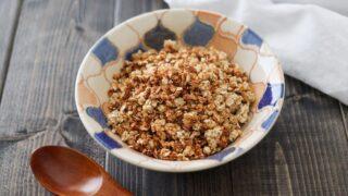 甘酒 グラノーラ オートミール 簡単 レシピ 油なし 砂糖なし 小麦粉なし