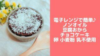 おから チョコ ケーキ 簡単 ベーキングパウダーなし 卵なし バターなし 油なし レシピ