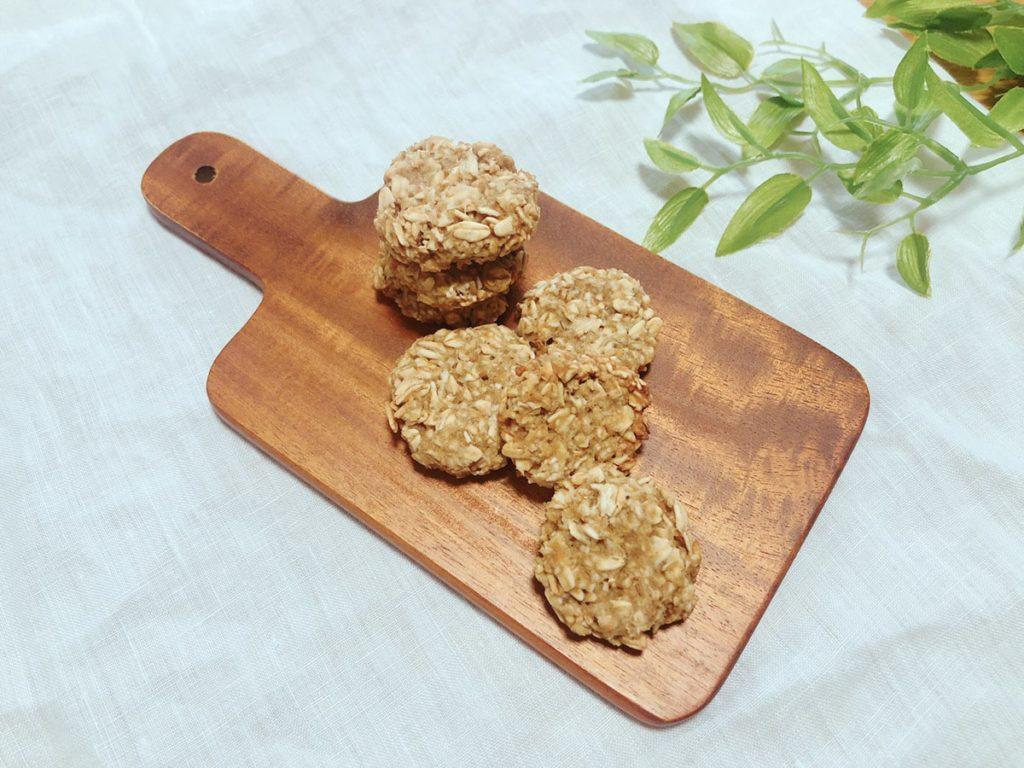 オートミールクッキー レシピ バターなし ノンオイル 簡単 卵なし 小麦粉なし