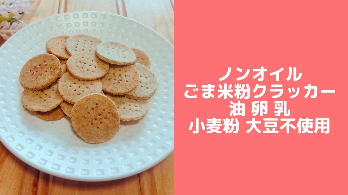 米粉 クラッカー 油なし 卵なし 簡単 レシピ 幼児食 おやつ
