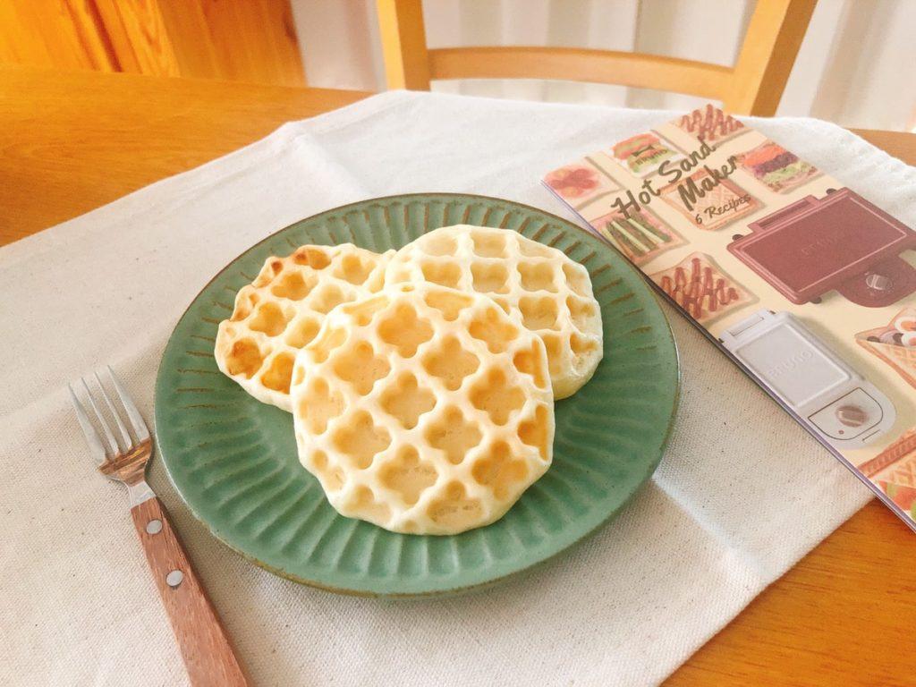 米粉ワッフル 豆腐 レシピ 卵なし 小麦粉なし バターなし 油なし