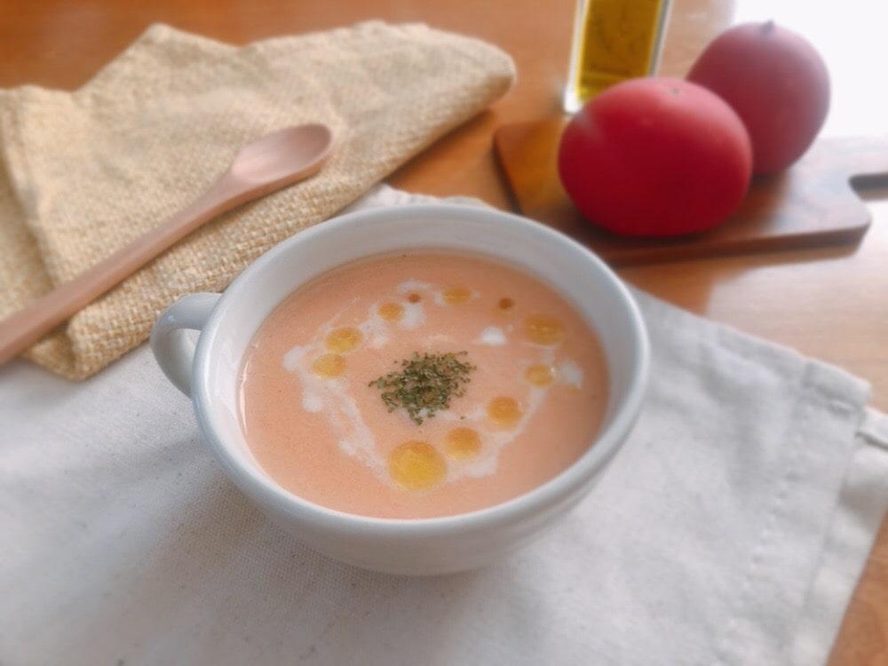 豆乳 トマト ポタージュスープ レシピ バターなし 生クリームなし 冷製