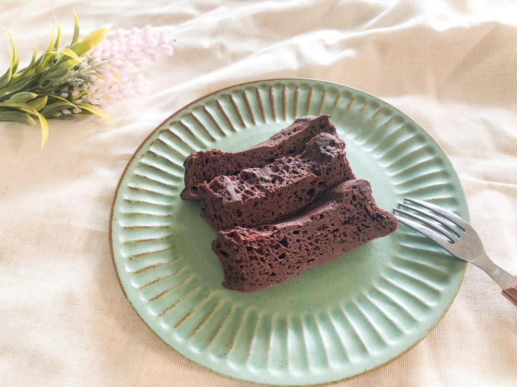 おからパウダー チョコケーキ 卵なし 小麦粉なし サイリウム ダイエット