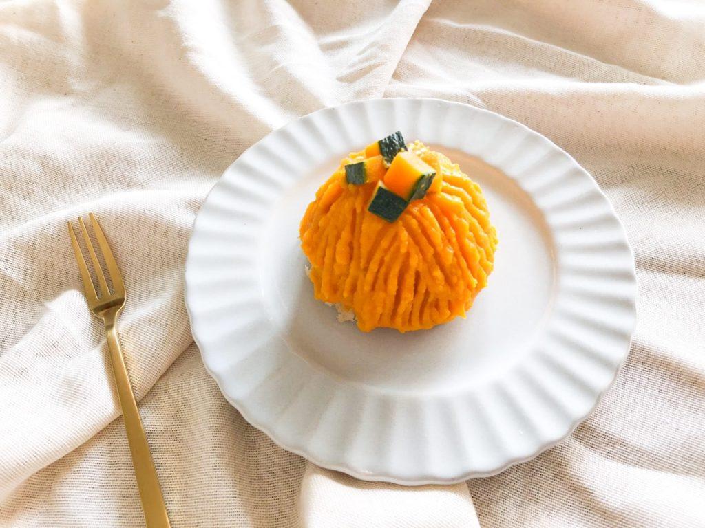 かぼちゃ モンブラン レシピ 簡単 絞り袋なし