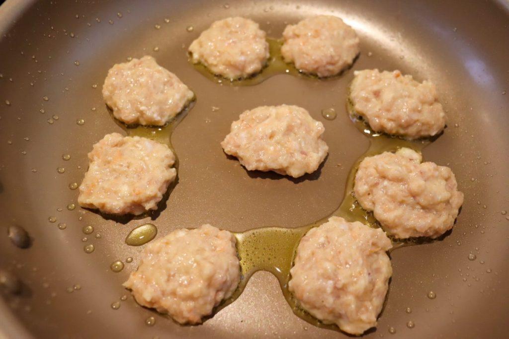 チキンナゲット 豆腐 オリーブオイル