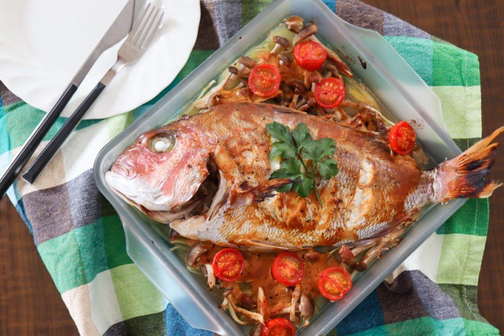 鯛 オーブン焼き 簡単 パーティー