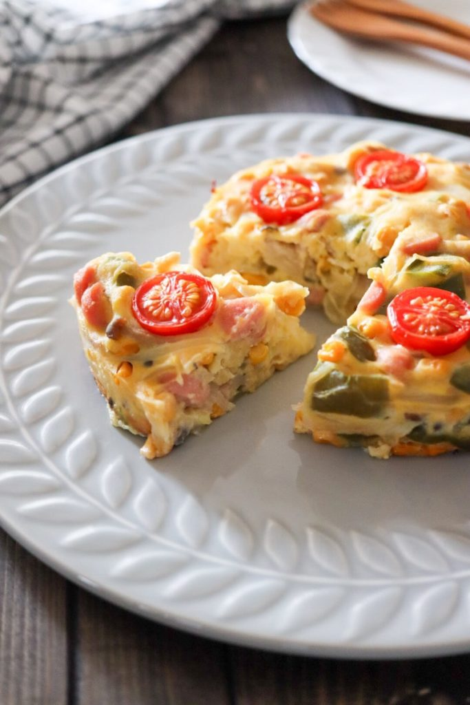 キッシュ 卵なし パイ生地なし 簡単 バターなし チーズなし アレルギーっ子