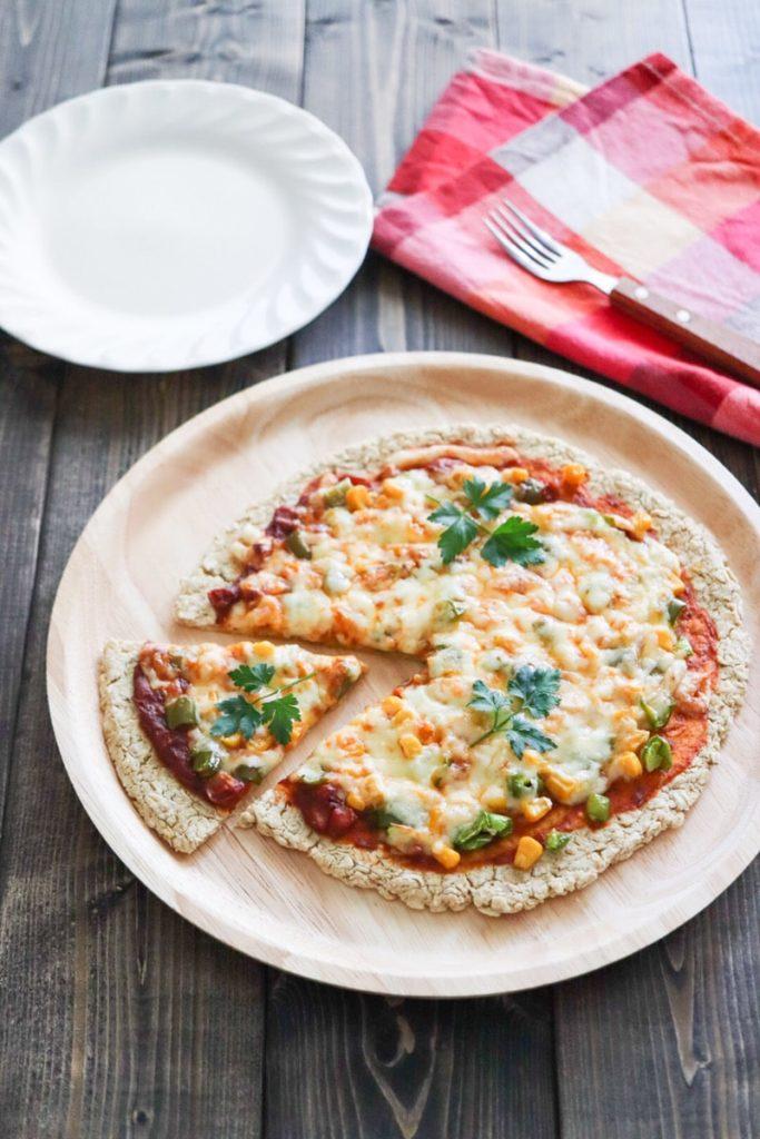 オートミール ピザ 生地 レシピ オーブン トースター 簡単 卵なし