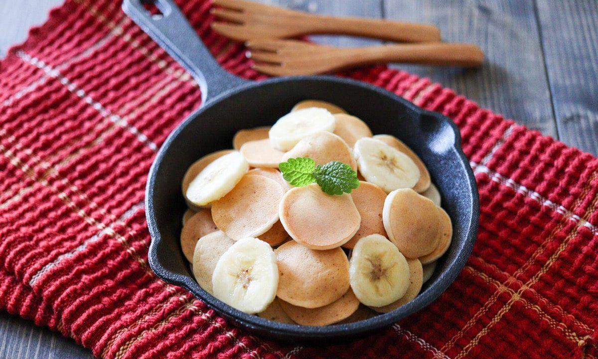 バナナ パンケーキ 米粉 かわいい おしゃれ 砂糖なし 卵なし 豆乳なし