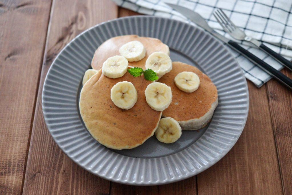 バナナ パンケーキ 砂糖なし ノンオイル 卵なし 小麦粉なし 砂糖なし
