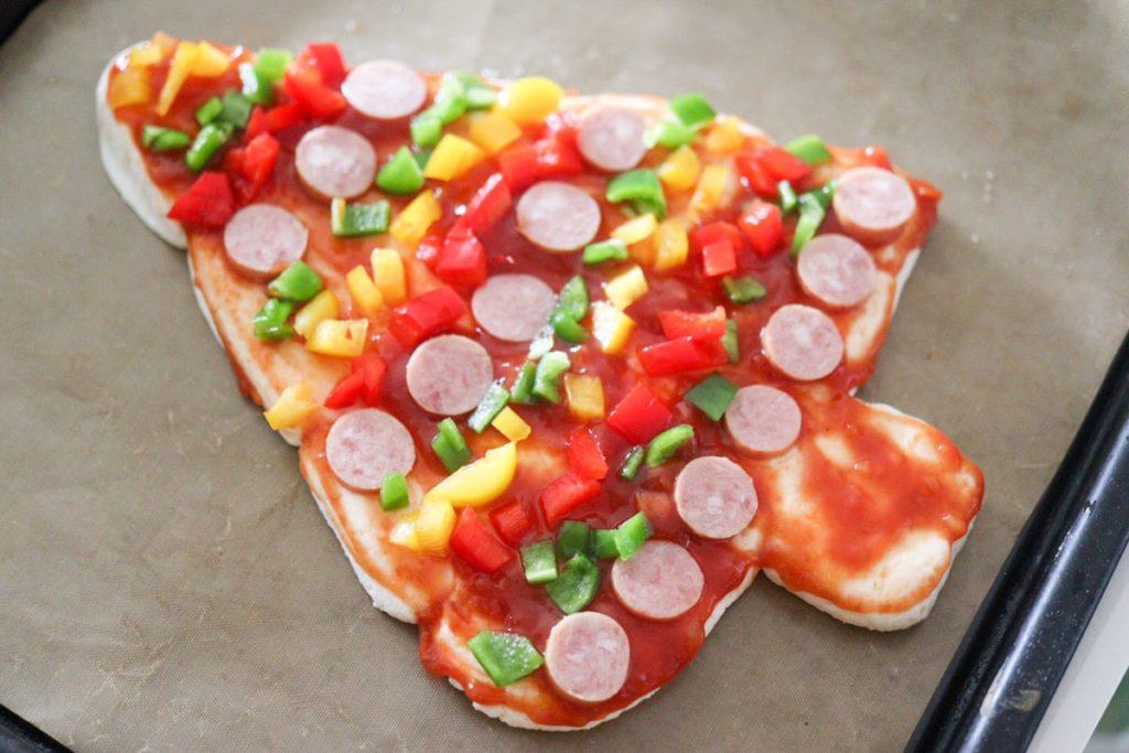 クリスマス ピザ レシピ 簡単