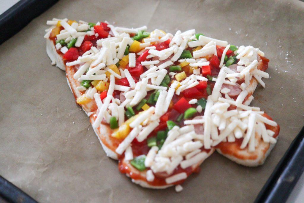 クリスマス ピザ レシピ 簡単 豆乳シュレッド
