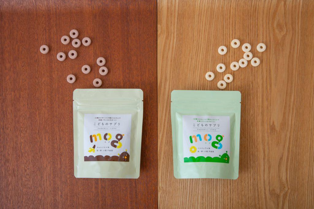 モグ 種類 原材料 子どものサプリ パイナップル味 チョコバナナ味