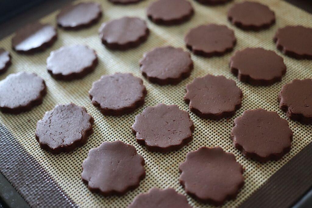 ココアパウダー 米粉 クッキー バターなし 卵なし