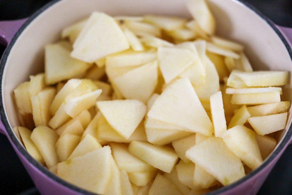 鍋 りんごジャム 砂糖なし 簡単