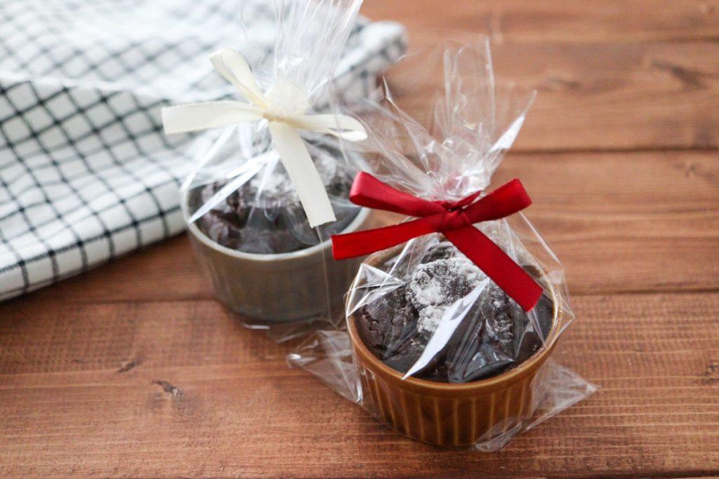 ココット皿 ガトーショコラ チョコレートケーキ バレンタイン 子ども バターなし 卵なし