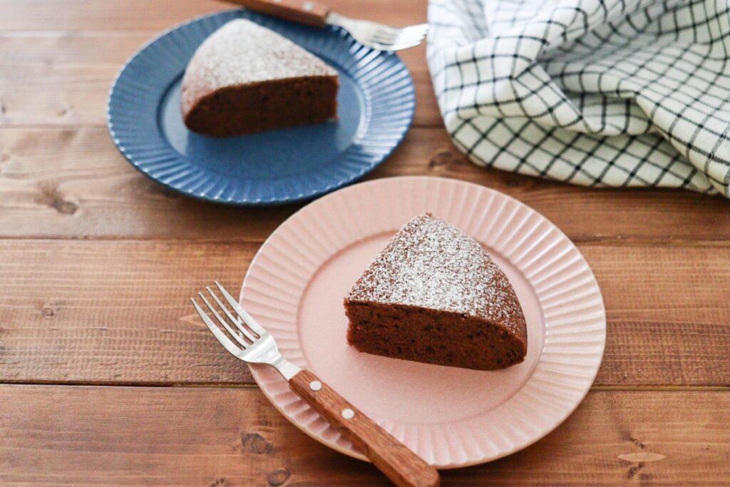 炊飯器ケーキ 米粉 卵なし 小麦粉なし バターなし チョコレートケーキ ココア