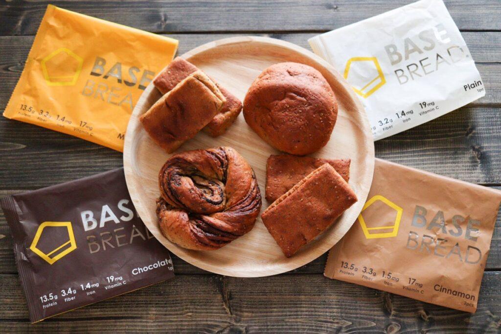 ベースブレッド  ベースフード パン 種類 味 比較 口コミ 菓子パン