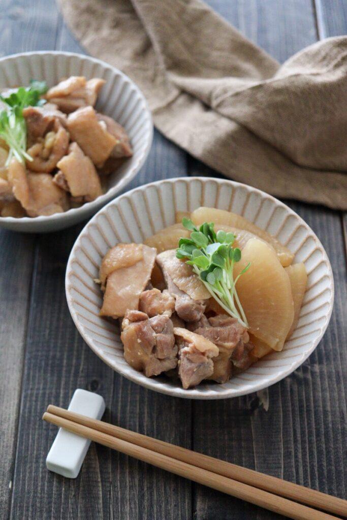 大根 鶏肉 味噌煮 下ゆでなし 幼児食 子ども 鳥もも肉 だし汁なし 簡単