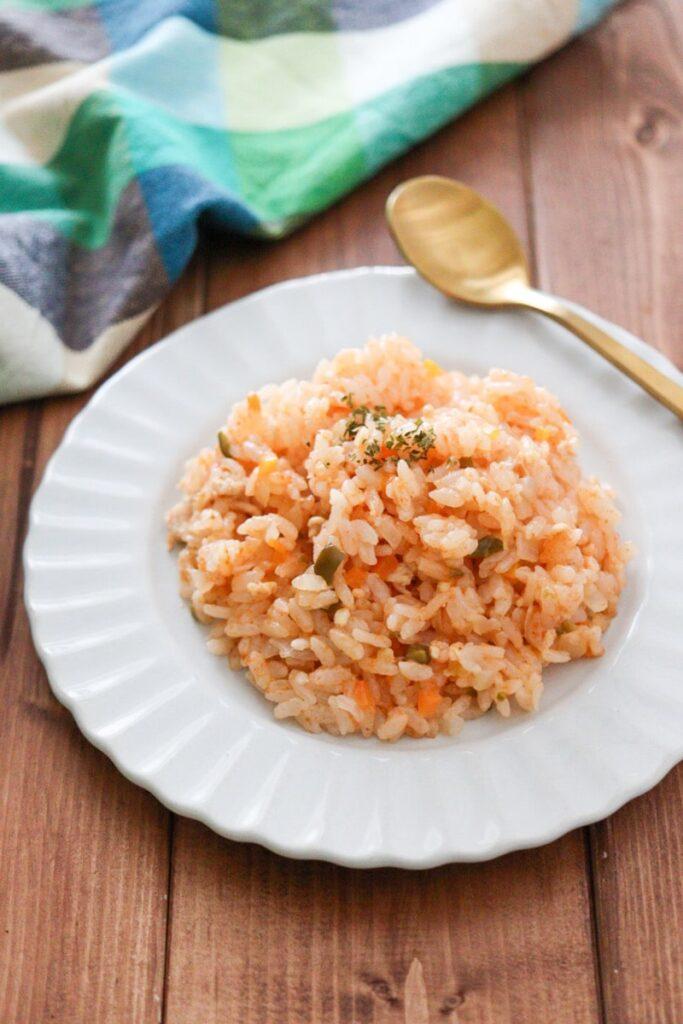 幼児食 炊き込みご飯 ケチャップライス 簡単 レシピ 塩分控えめ 野菜嫌い