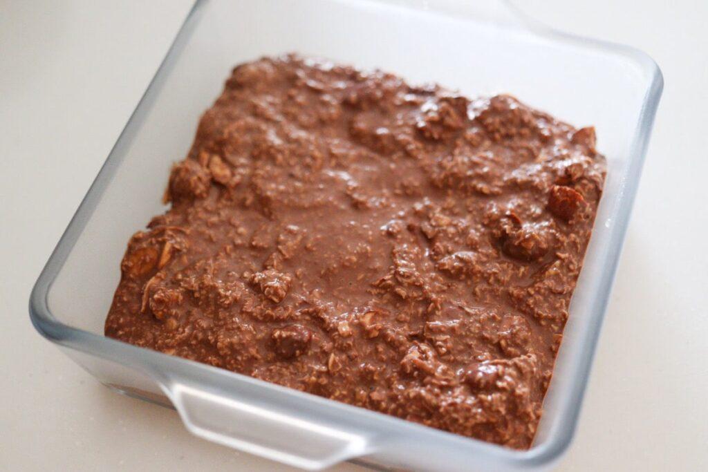 オートミール  ケーキ 卵なし 小麦粉なし ココアパウダー レシピ
